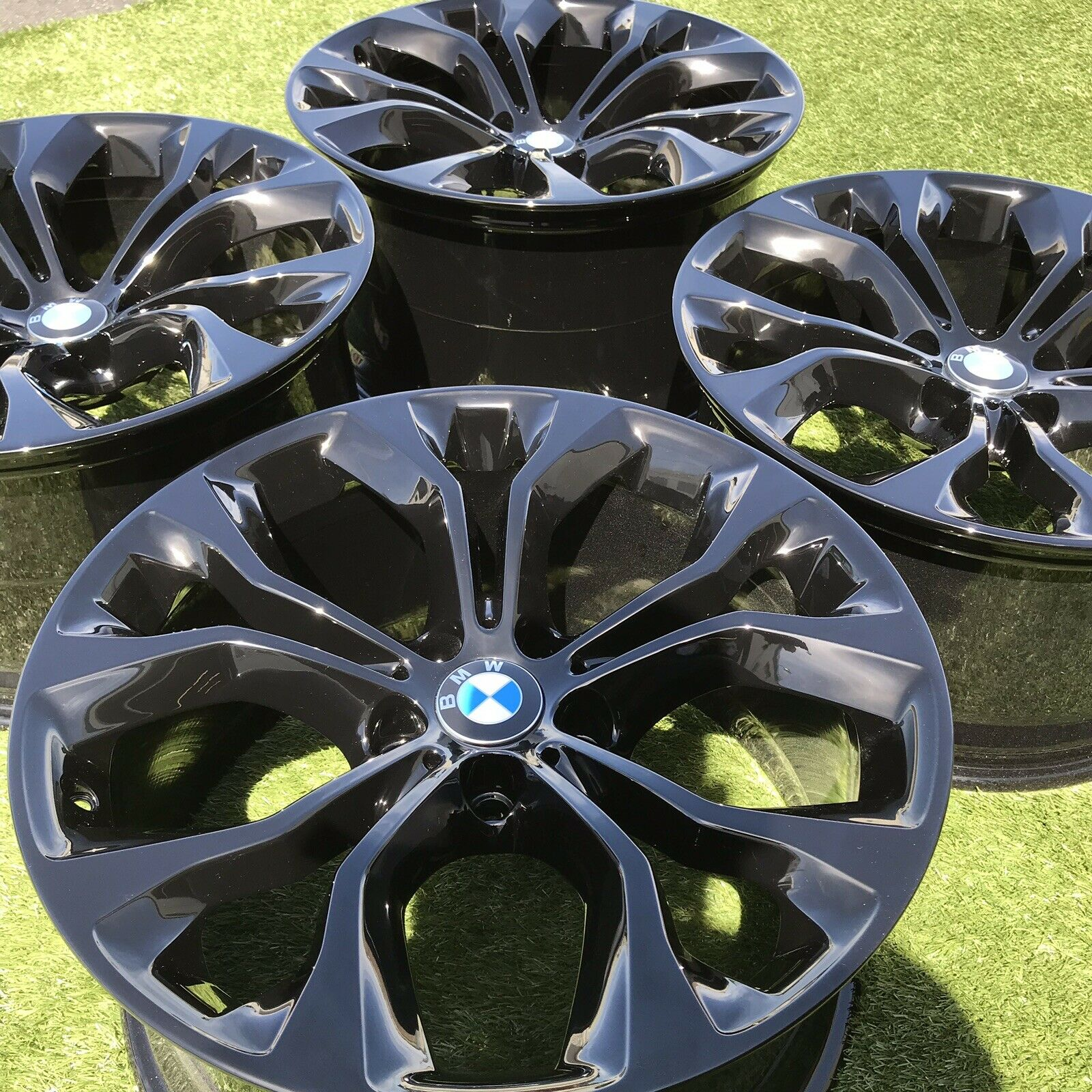 20 Bmw X5 Rims Wheels Factory Set Black Inch X6 M X5m Genuine Luxury Wheel Collection